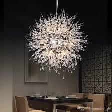 großhandel moderne löwenzahn led deckenleuchte kristall kronleuchter beleuchtung globus pendelleuchte für esszimmer schlafzimmer wohnzimmer