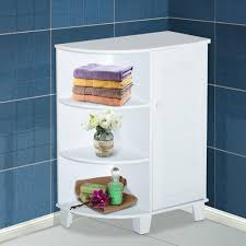 homcom eckschrank badezimmerschrank badschrank badregal schrank weiß 60x30x80cm