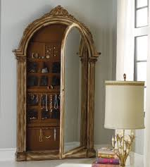 Bedroom: Oak Wood Standing Armoire For Jewelry Mirror Armoire ... Decor Endearing White Wood Stained Jewelry Armoire Walmart Best Shop Boston Loft Furnishings Nina Cherry Wallmount Wall Mount Kohls Style Guru Fashion Glitz Fniture Traditional With Interior Armoire Mirror Faedaworkscom Wall Jewelry Abolishrmcom Capvating Quatrefoil Mirror Mounted Swivel Blackcrowus Top 5 Armoires Youtube Home Design Ideas Bedroom Paloma Locking Wooden 17 Varied Kinds Of To Get And Use
