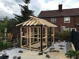 100 Backyard Tea House House Roof Almost Finished Teahouse Japanese Japanese