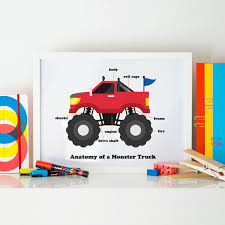 100 Monster Truck Birthday Party Supplies Anatomy Of A Printable Nutmegaroo