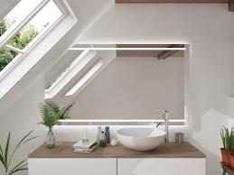 led badspiegel mit dachschräge damverd