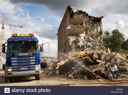 Construction Work Demolition Scania Lorry Truck Vehicle Stockholm ...