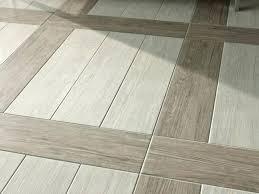 wood look tile flooring laid in herringbone pattern coastal