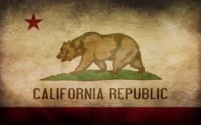 California Grunge Flag By Yenemy1a