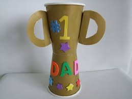 Make A Fathers Day Trophy Craft From Paper Cups For The 1 Dad