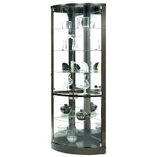 Round Curio Cabinets Cabinet Dining Table Corner Half Display Target Cu