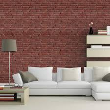 tapisserie pour cuisine papier peint intissé briques anciennes orange leroy merlin