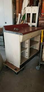 original usa 50er jahre küche metall 3 teilig linoleum selten