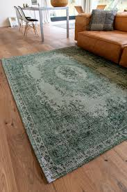 vintage teppich grün da mosto
