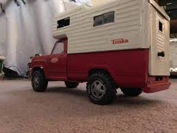 100 Pick Up Truck Camper Red Tonka Pickup Truck Wcamper On The Bed 1903375757