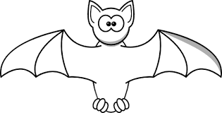Bat Clipart Black And White