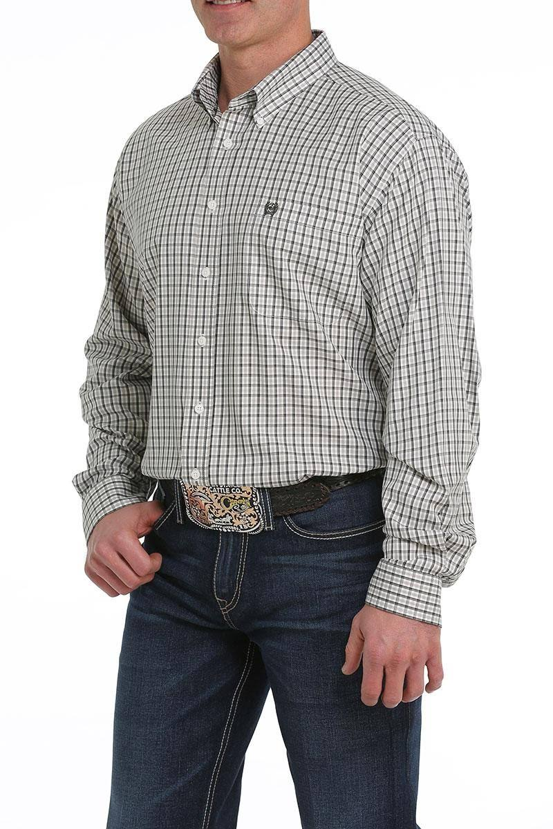 Cinch Western Shirt Mens Plaid Long Sleeve Multi-color MTW1104946