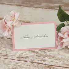 Vintage Lace Blush Pink Rustic Wedding Place Card