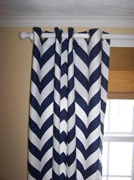 Sweet Jojo Chevron Curtains by Colorful Curtains Curtain Shower Navy And White Chevron Curtains