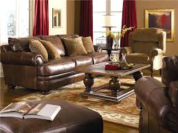 Casual Style Leather Sofa With Bun Feet Miller Brothers Furniture