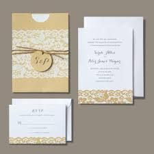 Michaels Wedding Department BRIDES Rustic Chic Invitation Kraft Paper Strikes Just The Right