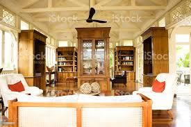 kolonialstil büro und wohnzimmer stockfoto und mehr bilder akademisches lernen