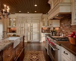Brick Backsplash Idea Makes Your Kitchen Looks Beautiful Vintage Design With And