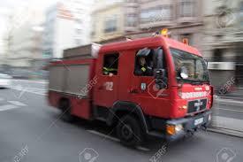 100 Fire Lights For Trucks MADRID SPAIN OCTOBER 10 2014 A Truck Speeding Through