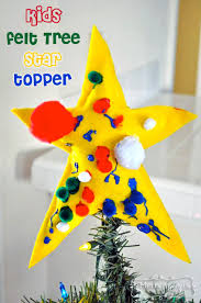 Kids Felt Christmas Tree Star Topper