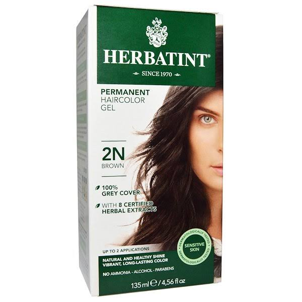 Herbatint Permanent Herbal Haircolor Gel - 2N Brown, 4.56oz
