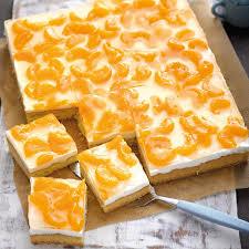 schmand schnitte mit mandarinen