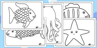 Colouring Sheets Twinkl Rainbow Fish Template Free Coloring Pages On Art
