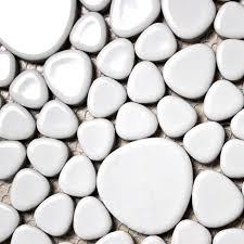 wholesale porcelain bathroom wall interior decorative white pebble