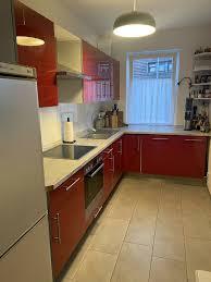 ikea küche faktum rot hochglanz inkl elektrogeräten