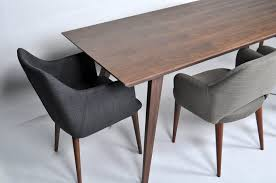 Demir Modern Walnut Dining Table 86