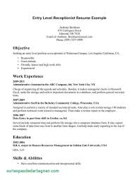 General Resume Objective Examples Receptionist Of For Medical Elegant Related Post