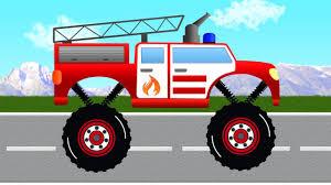Fire Truck For Kids. Monster Fire Truck. Fire Trucks Videos For ...