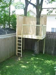 Simple Backyard Tree House