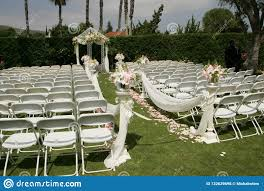 Outdoor Wedding White Chairs , Bridal Party Stock Photo ... 16 Easy Wedding Chair Decoration Ideas Twis Weddings Beautiful Place For Outside Wedding Ceremony In City Park Many White Chairs Decorated With Fresh Flowers On A Green Can Plastic Folding Chairs Look Elegant For My Event Ctc Ivory Us 911 18 Offburlap Sashes Cover Jute Tie Bow Burlap Table Runner Burlap Lace Tableware Pouch Banquet Home Rustic Decorationin Spandex Party Decorations Pink Buy Folding Event And Get Free Shipping Aliexpresscom Linens Inc Lifetime Stretch Fitted Covers Back Do It Yourself Cheap Arch