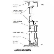CAD Dwg Free Aluminium Window Detail
