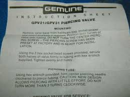 klimageräte ersatzteile lot of 5 gemline piercing valves gpv