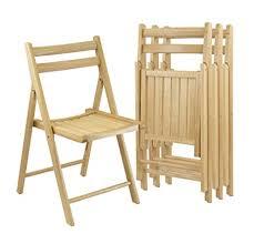 amazon com winsome wood folding chairs natural finish set of 4