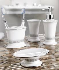 Rhinestone Bathroom Accessories Sets by Moda At Home White Rhinestone Broadway Soap Dish Zulily