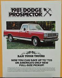 1981 Dodge Prospector Package Sweptline Pickup Truck Color Sales ...
