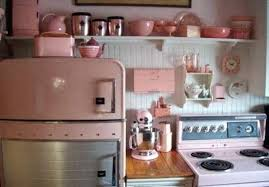 Pink Appliances Kitchen Retro Kitchen With Pink Appliances And