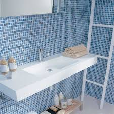 blue tilethroom navy floor ideas paint colors gray retro bathroom