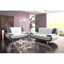 canapé design microfibre canapé design 3 2 bregga microfibre blanc et gr achat vente