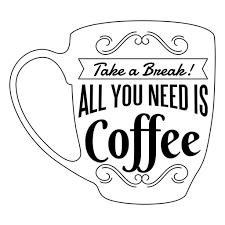 Take A Break Coffee Badge Transparent PNG
