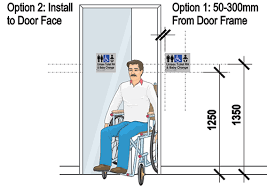 Ada Restroom Sign Mounting Height by How To Install Braille And Tactile Signs Installation Height