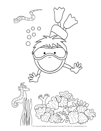 Kid Color Pages Under The Sea