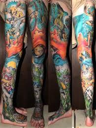 Full Color Leg Tattoo