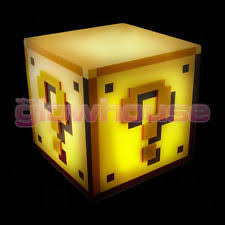 Mario Question Mark Block Lamp by Super Mario Bros Pp2929nn Question Block Light Plastic Multi