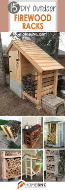 15 Best DIY Outdoor Firewood Rack Ideas and Desigs for 2018