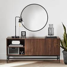 Mid Century Modern Furniture Walnut Entryway Console Table
